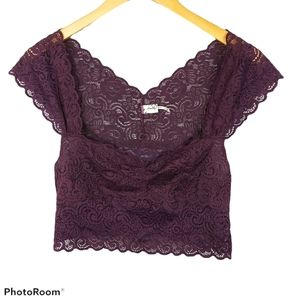 Free people Intimately Lace Crop Top